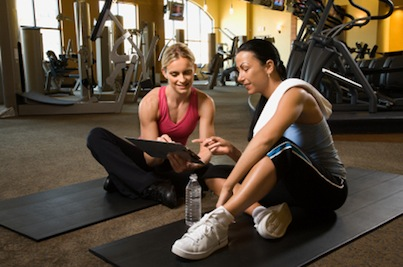 Female Personal Trainer with Client